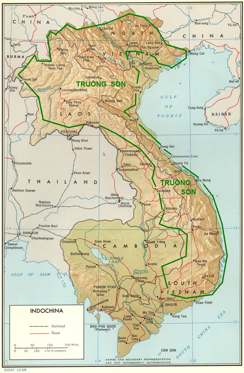 Mountains In Vietnam Map.Vietnam Ho Chi Minh Trail 1 Geophysical Structure