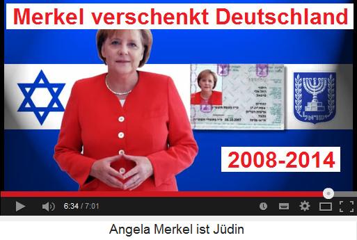 Jüdin Angela Merkel hat als                  Bundeskanzlerin mit jüdischem Pass von 2008 bis 2014                  Deutschland verschenkt