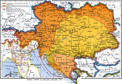 Hitler Was An Austrian Adolf Hitler As A Child Of Monarchy Of - Map of austria hungary 1900 1907
