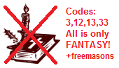 Church                     has a Jesus fantasy story with the codes 3,12,13 and                     33 - Freemasons!