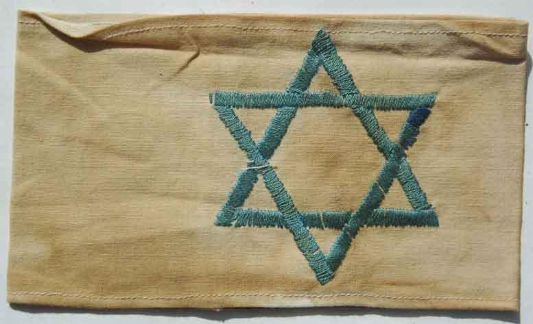 Jewish badge and armbands 1939-1945