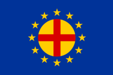 The                         flag of the Pan-European Movement of 1923