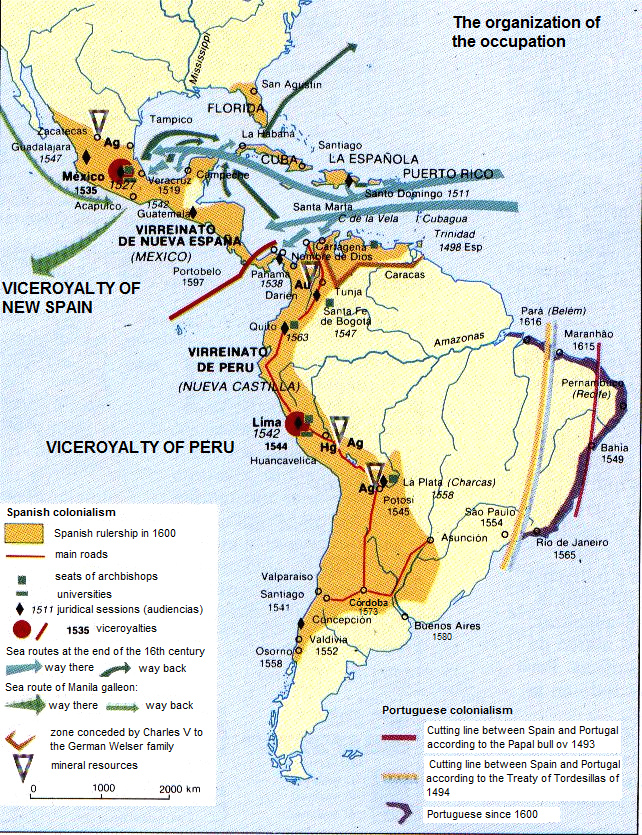Colonialism A Holocaust In Mines Mission Terrorism Peru - Portugal map 1500