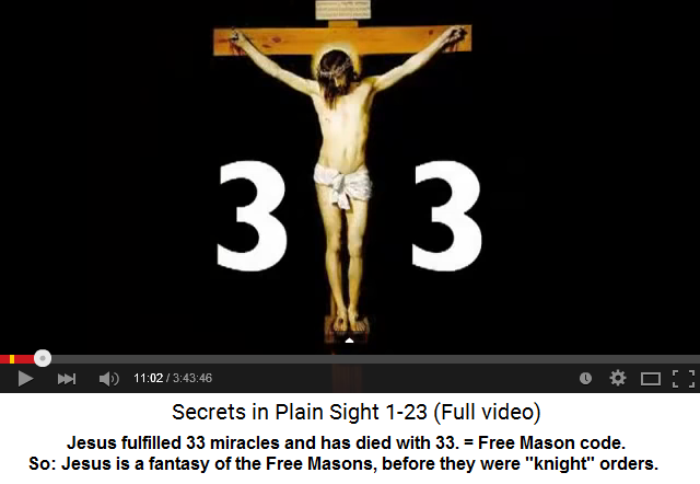 04: Fantasy Jesus with codes 3,12,13, and 33 - Free Masons